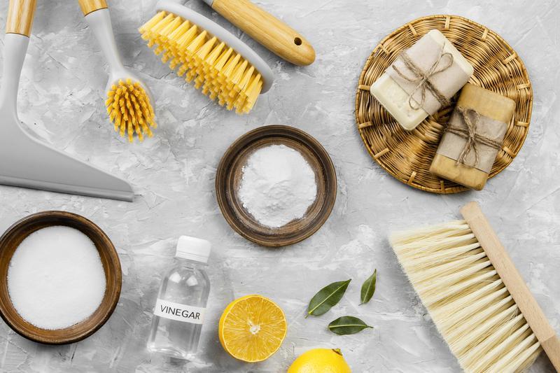 Productos de limpieza naturales para el horno.
